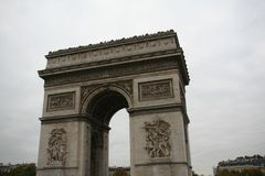 Arc the Triomphe, Triumphal Arch de l Etoile, Paris. France royalty free stock images