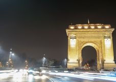 Arc of Triumf. The Arc of Triumf from Bucharest, Romania Stock Photos