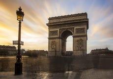 Arc of triumph. Place de l'étoile - Paris Royalty Free Stock Photography