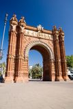 The Arc of Triumph - Barcelona. Spain Stock Photo