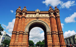 Arc of Triumph in Barcelona, Spain. Close view of Arc of Triumph in Barcelona, Spain Royalty Free Stock Photo