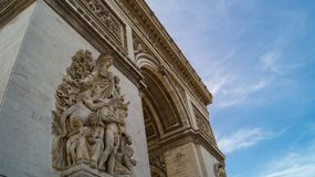 Arc of the triumph Paris. Low angle view of Arch of the triumph in Paris Royalty Free Stock Photography