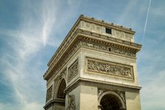 Arc of the triumph Paris. Low angle view of Arch of the triumph in Paris Stock Images