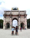 The Arc of Triumph, Paris. Very famous place in France Stock Photography