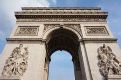 Arc of Triumph. Photo of arc of triumph in paris france on the champs elysees Stock Image