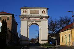 The Arc of Triumph in Vac,Hungary,24 Nov 2015. The Arc of Triumph in Vac,Hungary Royalty Free Stock Photos