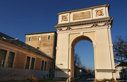 The Arc of Triumph in Vac, Hungary. The Arc of Triumph in the small town of Vác, near Budapest, Hungary Stock Image