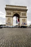 Arc of Triumph. View of the iconic monument Arc of Triumph in Paris, France Royalty Free Stock Photo