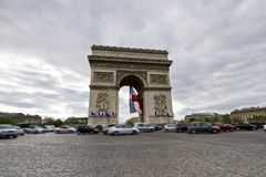 Arc of Triumph. View of the iconic monument Arc of Triumph in Paris, France Stock Photography