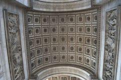 Arc of Triumphe, Paris, France. Architecture landmark Arc of Triumph in Paris France Royalty Free Stock Photos