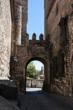 Arc in Trujillo. Historic arc in a street in a historic place Royalty Free Stock Photography