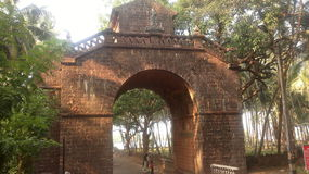 Arc of Viceroy,Old Goa (India). This arch was once the main street for entering Old Goa. It was built in the memory of Vasco da Gama, the famous explorer, in Royalty Free Stock Image