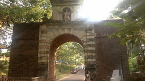Arc of Viceroy,Old Goa (India). The Viceroy's Arch was erected in 1599 by Viceroy Francisco da Gama (great grand son of Vasco Da Gama). This arch was once the Royalty Free Stock Photos
