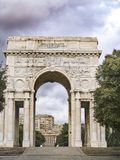 Arc of victory at Genova. In Liguria Stock Photos