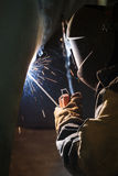 Arc welder at work Royalty Free Stock Images