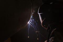 Arc welder at work Stock Photos