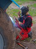 Arc welding Stock Image