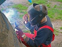 Arc welding 2 Royalty Free Stock Images