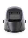 Arc welding helmet. Black arc welding helmet over white Royalty Free Stock Photos