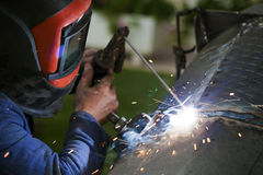 Arc Welding. Metal Endustry Concept Stock Photos
