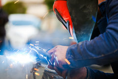 Arc Welding. Metal Endustry Concept Stock Image