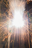 Arc welding. Spatter fire in factory Stock Photos