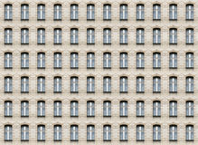 Arc windows wall texture. Seamless pattern of arc windows on beige brick wall Royalty Free Stock Image