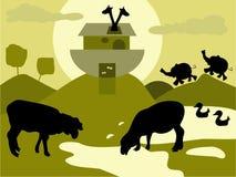 Arca de Noah stock de ilustración