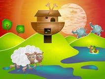 Arca de Noahs ilustración del vector