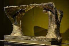 Arca del convenio con las querubes, modelo del tabernáculo, tienda del encuentro en el parque de Timna, desierto del Néguev, Eila imagen de archivo