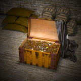 Arca do tesouro imagem de stock