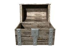 A arca do tesouro aberta esvazia imagem de stock