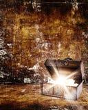 Arca do tesouro com joia para dentro fotos de stock royalty free