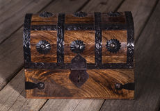 Arca do tesouro de madeira Foto de Stock