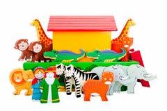 Arca ed animali del Noah Fotografie Stock Libere da Diritti