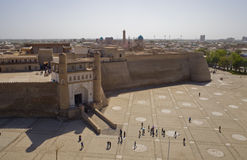 A arca Forterss em Bukhara, Uzbekistan fotografia de stock royalty free