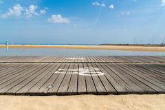 Arcachon, Франция, променад на пляже tne Стоковые Фото