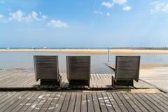 Arcachon, Франция, стенды на tne приставает к берегу Стоковое Фото