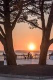 Arcachon Bay, France, Andernos at sunset. Sunset at low tide in Andernos, Arcachon Bay Royalty Free Stock Photo