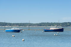 Arcachon Bay, France. Boat and typical Pinasse in Arès, Arcachon Bay Royalty Free Stock Images