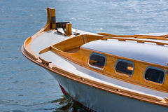 Arcachon Bay, France, traditional fishing boat called Pinasse. Detail of a traditional Pinasse in Arcachon bay Stock Photography