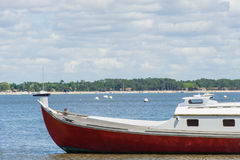 Arcachon Bay, France. Typical boat of the Arcachon Bay called Pinasse Stock Photos
