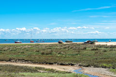 Arcachon Bay, France. Typical view over the Arcachon Bay at low tide Stock Image