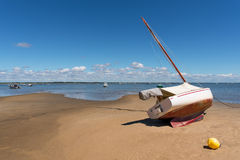 Arcachon Bay, France. Typical view over the Arcachon Bay at low tide Stock Photos