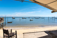 Arcachon Bay, France, view over the bay. View over the bay of Arcachon & x28;French Atlantic Coast& x29 Stock Photo