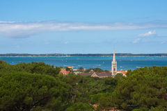 Arcachon Bay. View on the Arcachon Bay, France Stock Photography