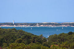 Arcachon Bay. View on the Arcachon Bay, France Royalty Free Stock Image