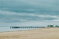 Arcachon Beach. Beach in Arcachon,  in France Stock Photo