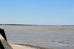 Arcachon beach at low tide. Photograph taken during a weekend in Arcachon at low tide Stock Photography