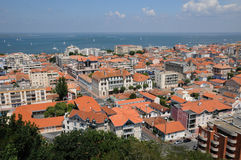 Arcachon in France. A general view of Arcachon Royalty Free Stock Photo